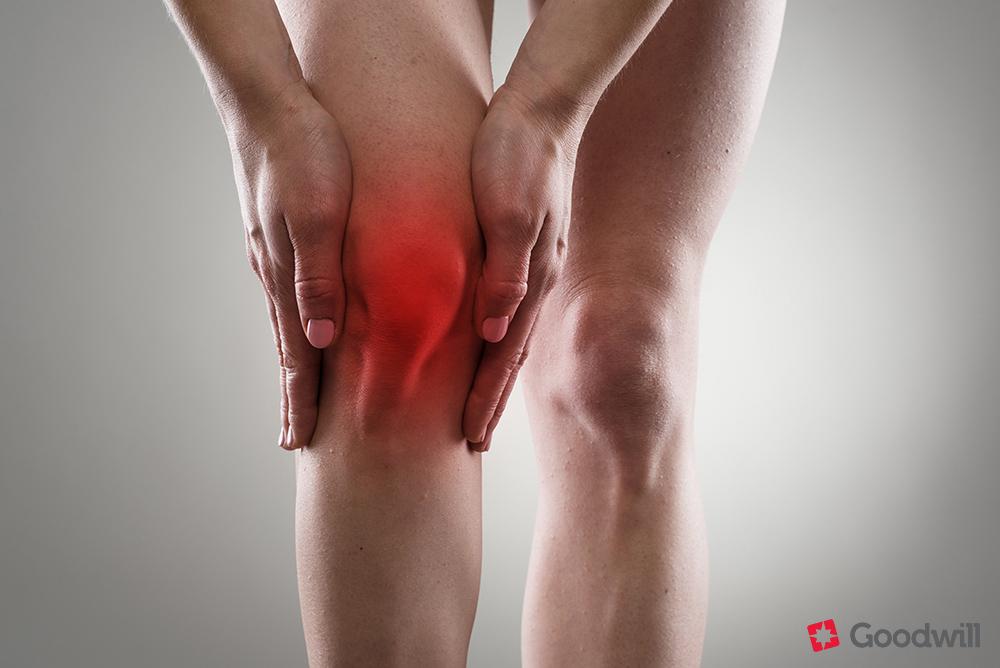lábak piros térdízületek