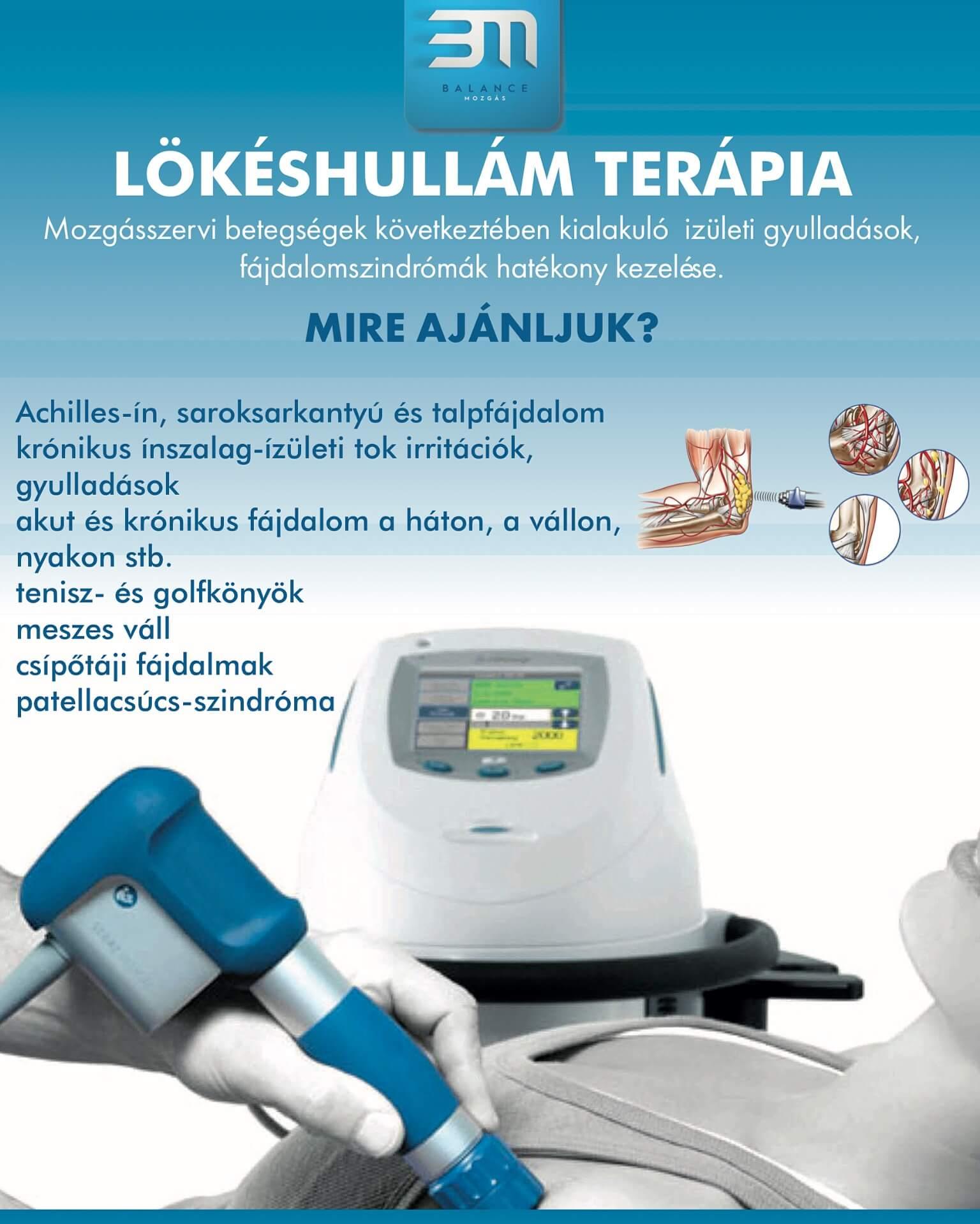 sokkhullám-kezelés az ízületi kezelés